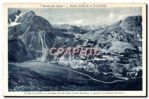 Old Postcard Plan Lachat Montee du Galibier