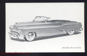 1952 BUICK 56C CONVERTIBLE VINTAGE CAR DEALER ADVERTISING POSTCARD '52 BUICK