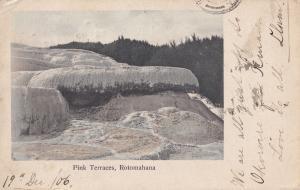 Pink Terraces Rotomahana Antique New Zealand Postcard