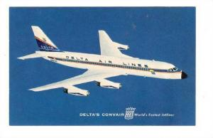 DELTA Air Lines, CONVAIR 880 jet airplane 60s