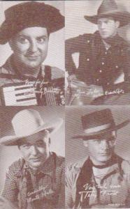 Vintage Cowboy Arcade Card Smily Burnett Tom Tyler Monte Hale & Terry Frost