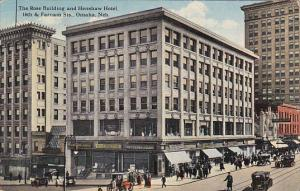 Nebraska Omaha Rose Building and Henshaw Hotel With Cigar Shopp 16th and Farn...