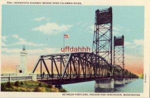 INTERSTATE HIGHWAY BRIDGE OVER COLUMBIA RIVER, PORTLAND, OR., VANCOUVER, WA.