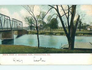Unused Pre-1907 PARK SCENE Indianapolis Indiana IN r7495