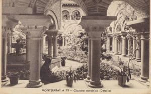 Postal 62335 : Montserrat - Claustro romanico (Detalle)