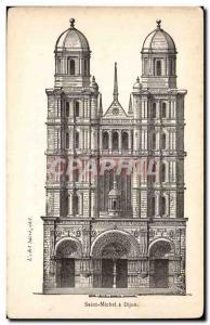Dijon - St. Michael's Church - Old Postcard - Old Postcard