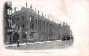 King Edward's Grammar School, Birmingham, England, Early Postcard, Unused