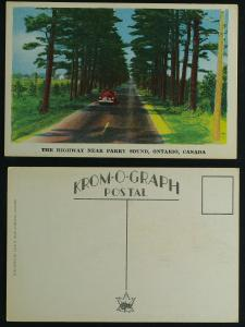 Highway near parry sound c 1940s