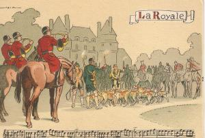 Before Hunt. Tubes Ringtones.La Royale Nice French PV 1940s. Continental size