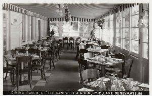 RP: LAKE GENEVA, Wisconsin, 30-40s; Dining Porch, Little Danish Tea Room, HY 12