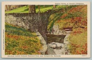 Hodgenville KY~Abraham Lincoln Nat Historical Park~Vintage Postcard