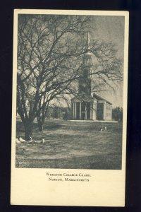 Norton, Massachusetts/MA Postcard, View Of Students At Wheaton College