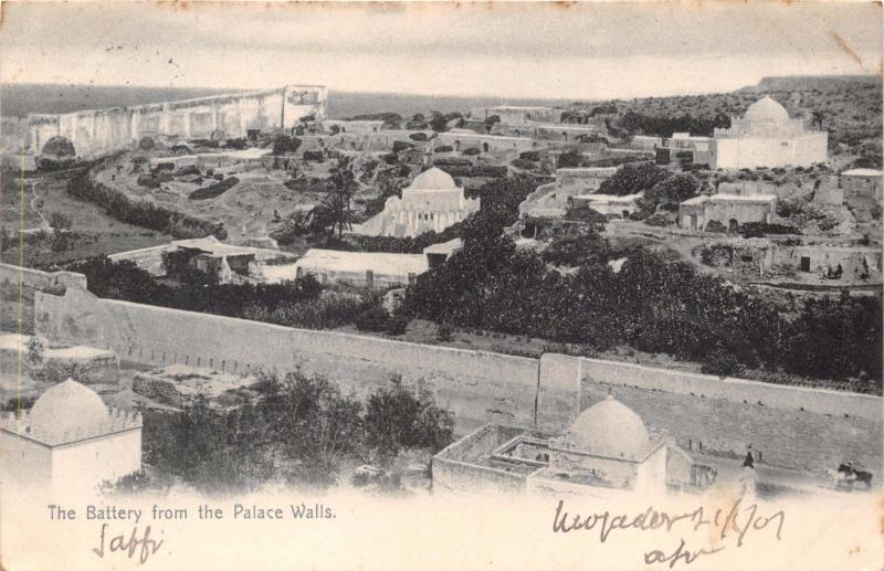 SAFFI MOROKKO MOROCCO AFRICA BATTERY FROM PALACE WALLS~F MAWICK PHOTO POSTCARD