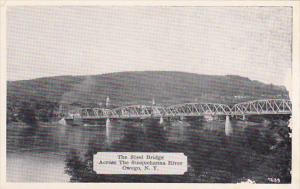 New York Owego Steel Bridge Across Susquehanna River Dexter Press