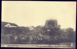 curacao, D.W.I., Caracas Bay, Old Fort (1930s) RPPC