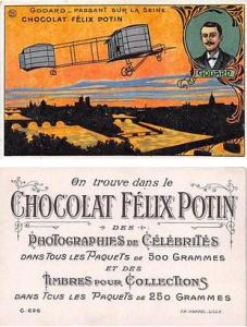 Approx Size Inches = 2.75 x 4.25 Chocolat Felix Potin Tradecard