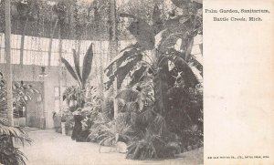 Palm Garden, Sanitarium, Battle Creek, Michigan, Early Postcard, Used in 1907