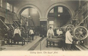 The Royal Mint cutting room industry machines early postcard