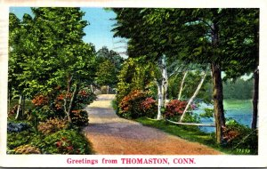 Connecticut Greetings From Thomaston 1938