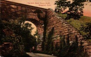 Connecticut Naugatuck North Church Street The Arch 1908