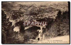 Old Postcard LA BOURBOULE - View from the Funicular Railway