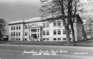 Grants Pass Oregon Josephine Court House Real Photo Antique Postcard K32923