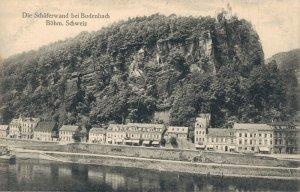 Czech Republic Die Schäferwand bei Bodenbach Böhm Schweiz 03.84