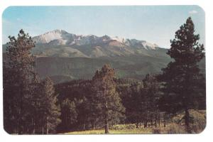 CO Pikes Peak from Rampart Range Rd Vtg Postcard