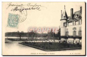 Old Postcard Chateau de Rambouillet and Gardens