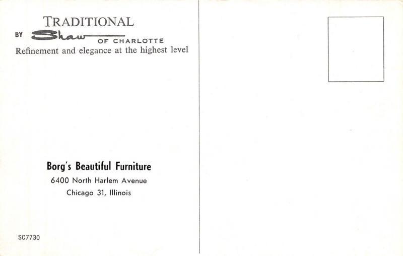 Chicago Illinois~Borg's Beautiful Furniture Store~North Harlem~Interior~1960s PC