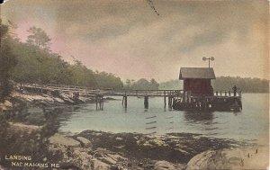 Mac Mahan Island, Boothbay Harbor ME, 1907, Town Landing, Hand Tinted Coastal