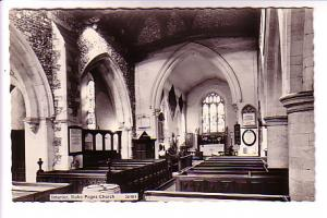 Real Photo, Interior Stokes Poges Church, England,