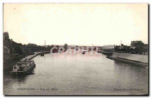 Old Postcard View Compiegne Oise