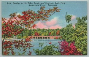 Cumberland County Kentucky~Boating On Lake In State Park~Vintage PC