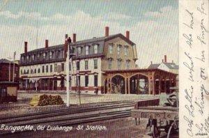 OLD EXCHANGE STREET STATION BANGOR, ME 1907
