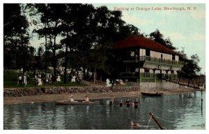 New York  Newburgh  Bathing at Orange lake