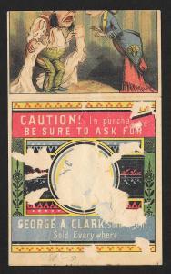 VICTORIAN TRADE CARD GA Clark's ONT Cotton Thread