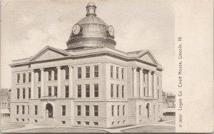 Lincoln IL Logan County Court House c1911 Clay City Rotograph Postcard F24