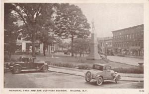 Memorial Park and Business Section of Malone NY, New York - WB