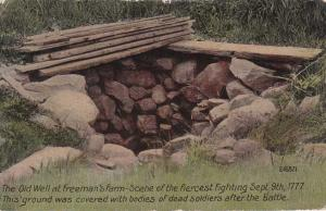 Bemis Heights NY, New York - Old Well on Freeman's Farm - pm 1913 - DB