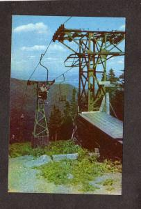 VT Skylift Ski Lift Mt Mount Mansfield Skiing Resort Underhill Vermont Postcard