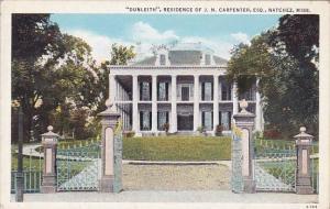 Dunleith Residence Of J N Carpenter ESQ Natchez Mississippi
