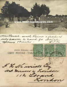 uruguay, Road Scene with Labourers (1904) RPPC Stamps