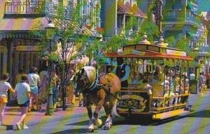 Florida Walt Disney World Trolley Ride Down Main Street U S A
