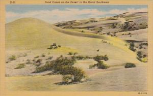 Arizona Sand Dunes On The Desert In The Great Southwest Curteich