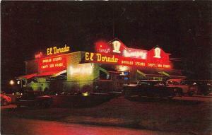 Milwaukee WI El Dorado Drive-In Restaurant Old Cars Postcard