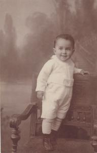 Early children studio portraits photo postcard cute baby boy