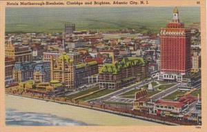 New Jersey Atlantic City Hotels Marlborough-Blenheim Claridge and Brighton