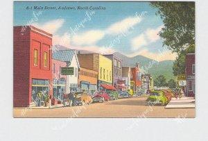 PPC POSTCARD NC NORTH CAROLINA ANDREWS MAIN STREET BUSINESS STREET VIEW HOTPOINT