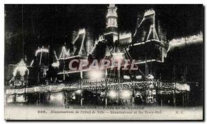 Paris 4 1919 - Fetes de la Victoire - Illuminations City Hotel - Old Postcard